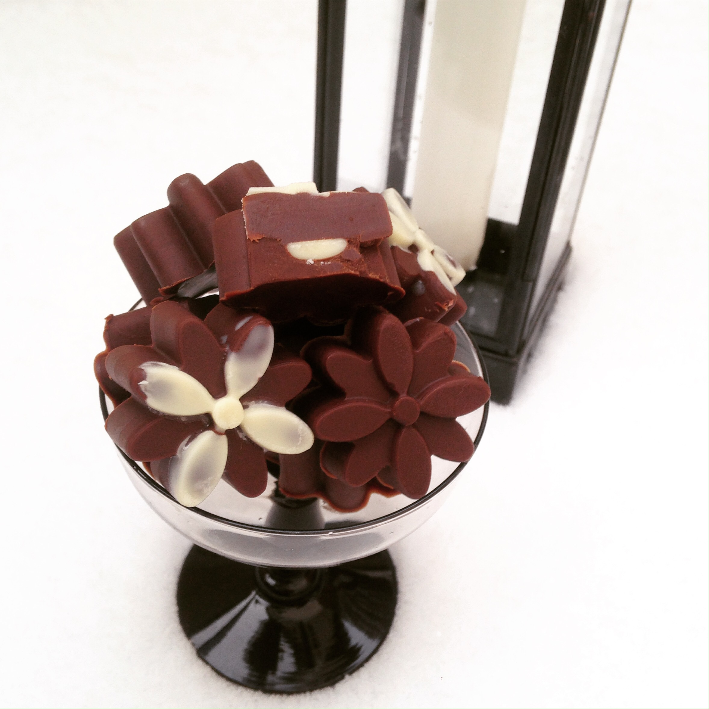 Ischoklad med vit choklad