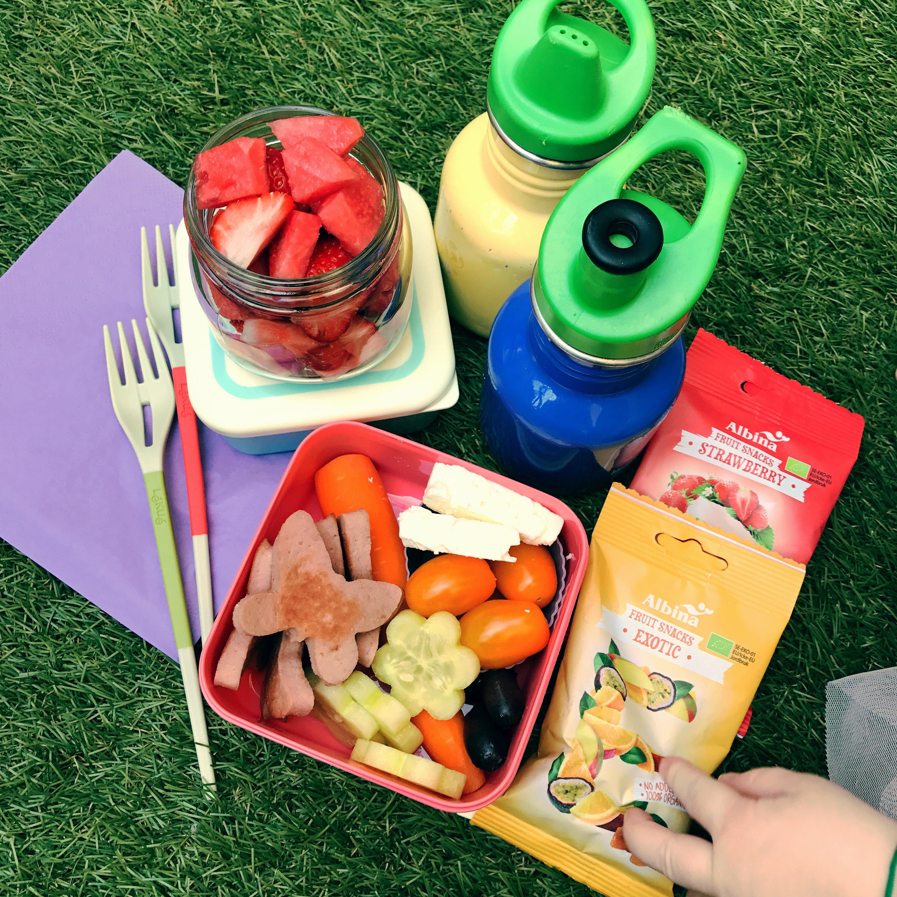 Picknick med falukorv
