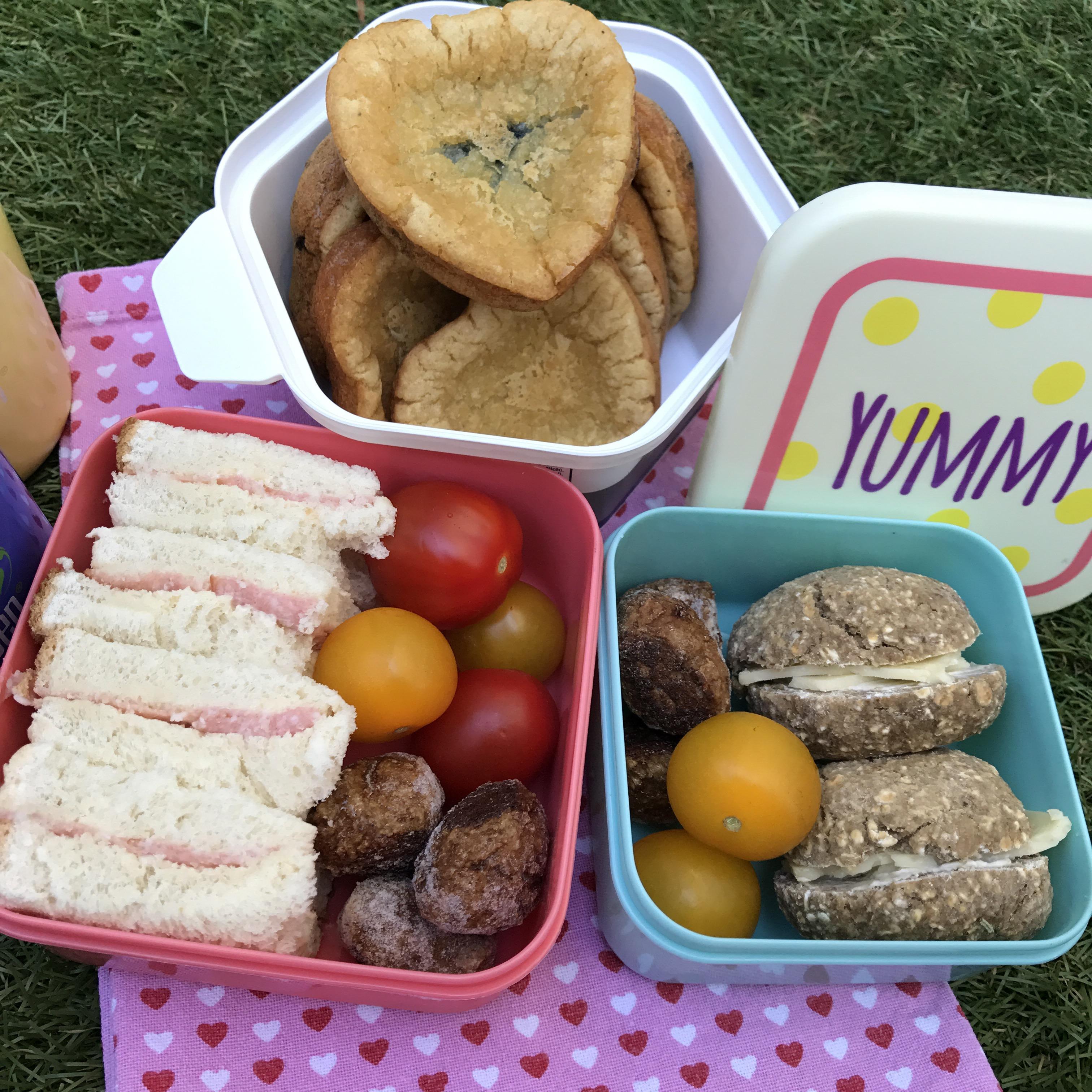 Picknick med pannkaksmuffins