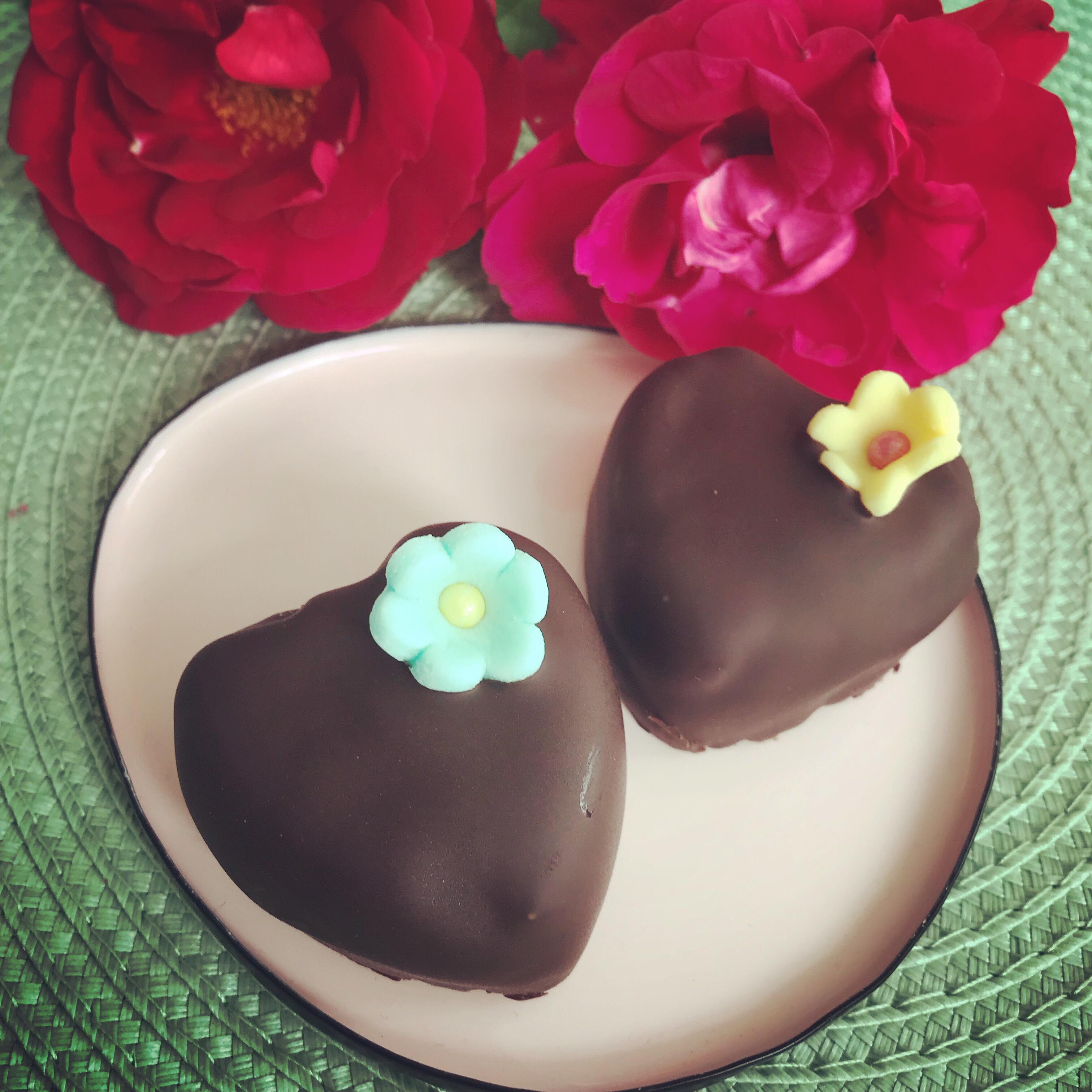 Mjuka chokladhjärtan