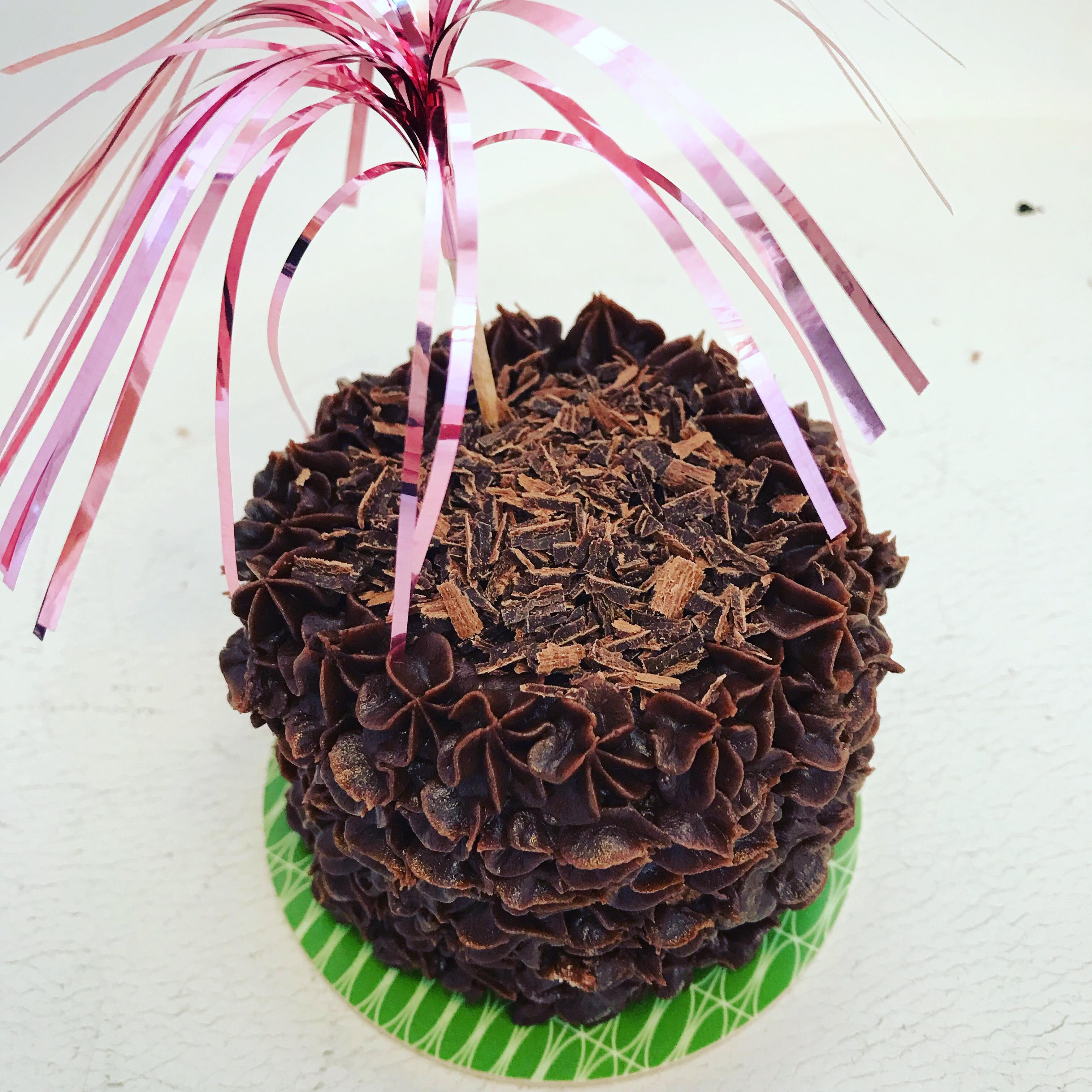 Minitårta med choklad och kaffe