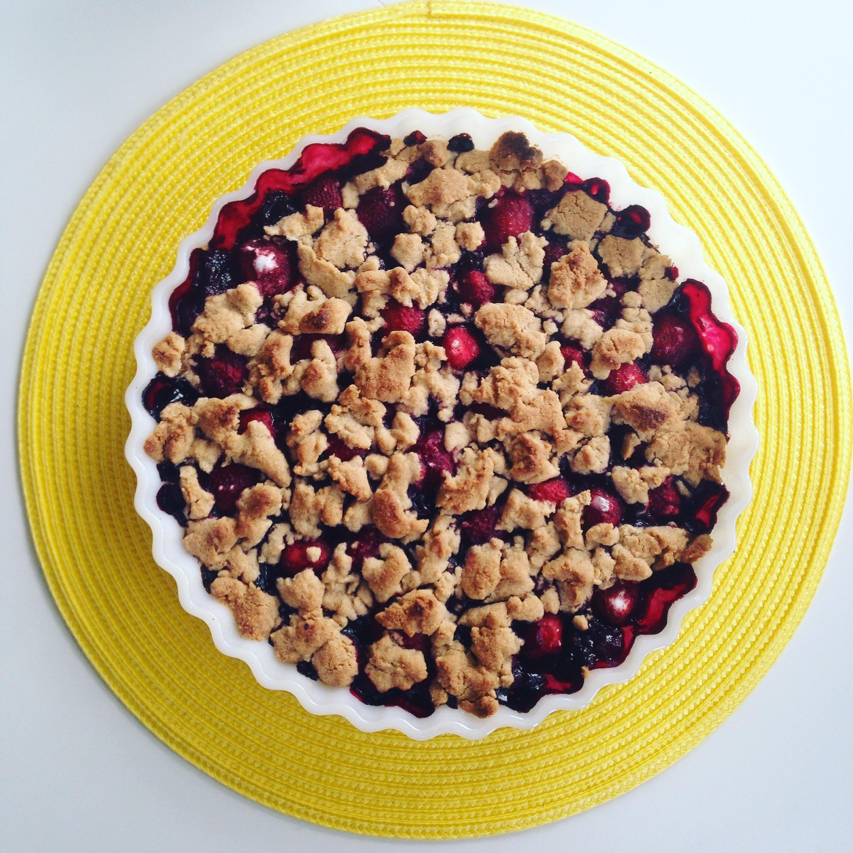 Blåbär- och jordgubbspaj