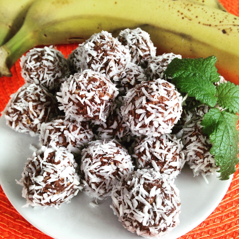 Chokladbollar med banan