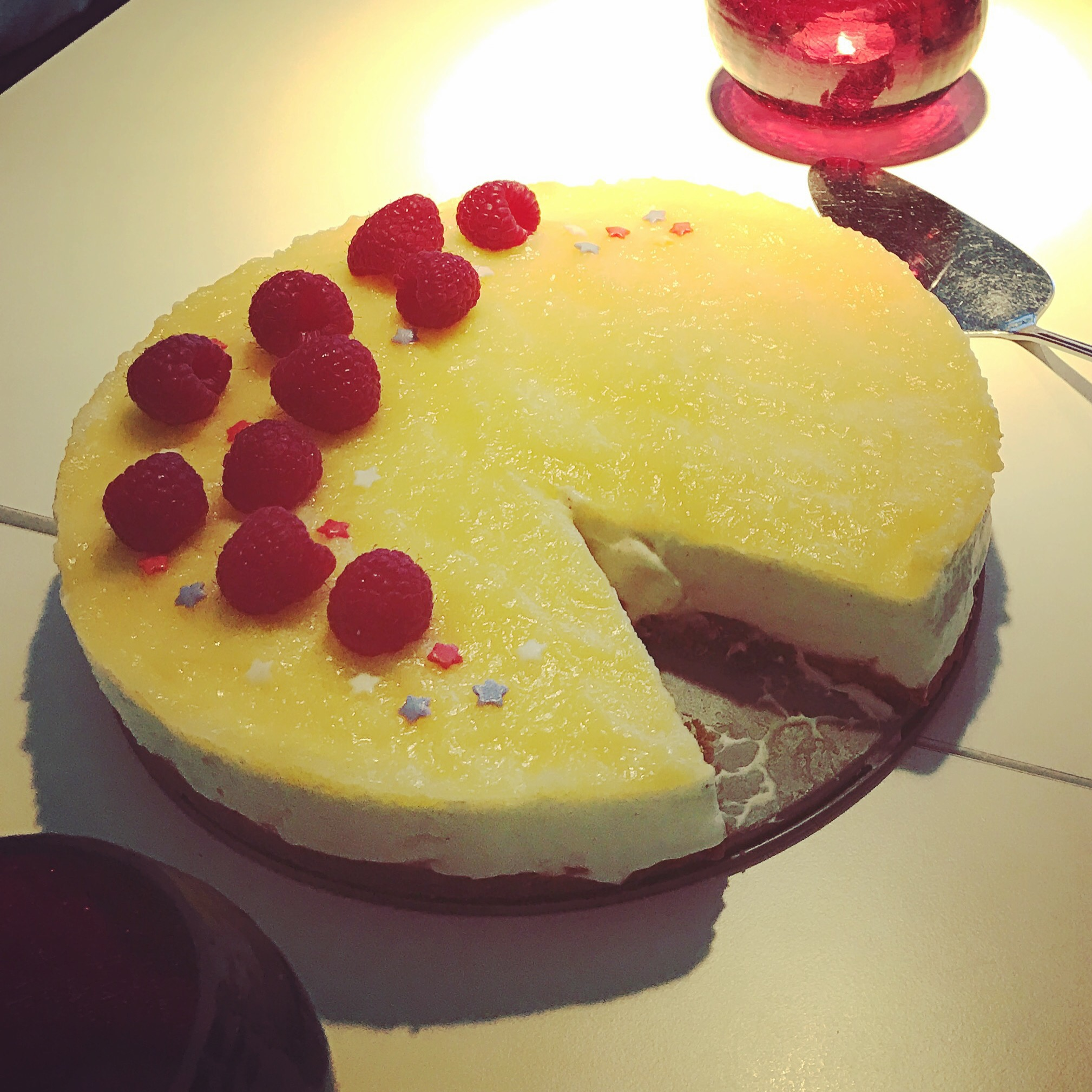Cheesecake med lemoncurd