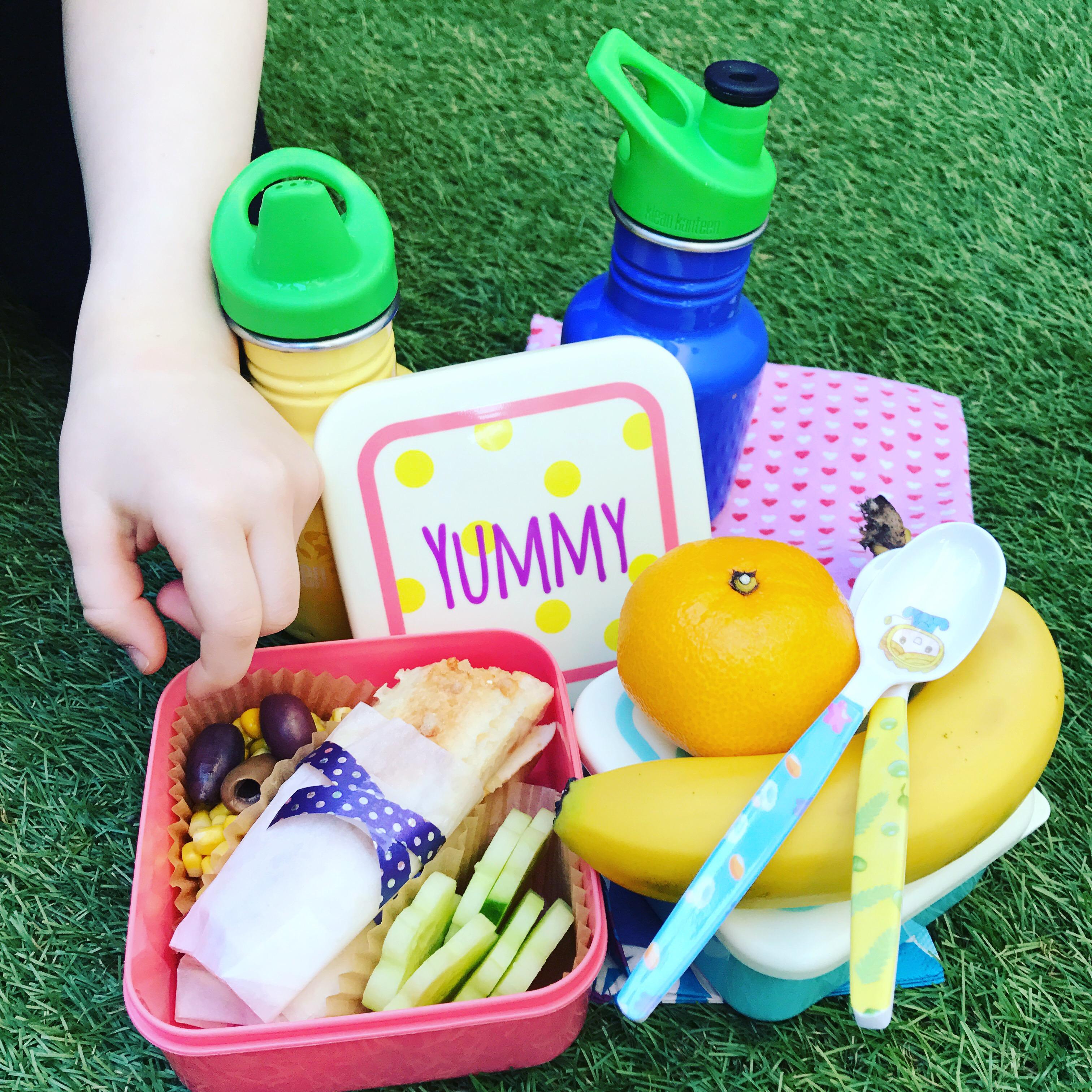 Picknick med köttfärsburritos